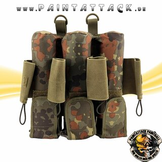 ProToyz Molle Battlepack Rebel Pack Flecktarn 7 Pot (inkl. 4 loops)