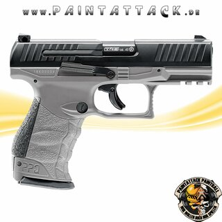 Walther PPQ M2 T4E Tungsten Gray Mag Fed Paintball Pistole - RAM Waffe