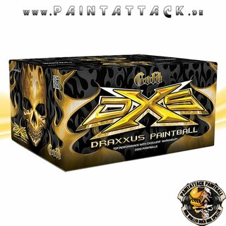 Draxxus Gold High End Turnier Paintballs DXS 2000 Stück Kiste