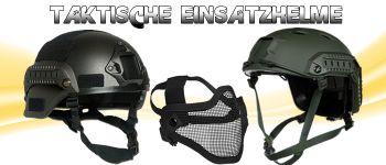 Paintball Helme und Gitterschutzmasken