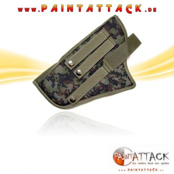 BT Universal Holster / Gürtelholster Paintball Harness - Woodland Digi camo