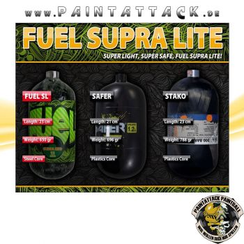 Fuel Supralite 1,1 L Composite HP Flasche 300 Bar/4500 PSI