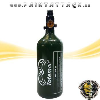 HP Flasche 0,8L 200bar ALU mit Regulator Totem Air