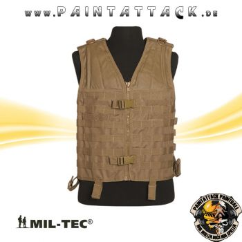 Molle Carrier Weste Mil-Tec coyote