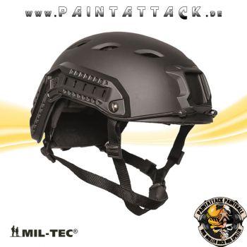 US Helm Paratrooper Fast mit Rail Mil-Tec schwarz