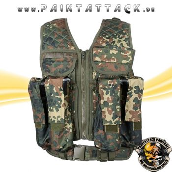Paintball Weste New Legion Tactical Vest Carrier flecktarn