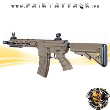Tippmann Recon AEG CQB 9,5 Zoll mit M-Lok Shroud 6mm BB Airsoft Gewehr TAN
