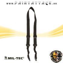 Tactical Tragegurt mit Bungee 2-Point Mil-tec Schwarz