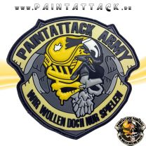 Paintattack Paintball 3D Rubberpatch gelb