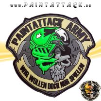 Paintattack Paintball 3D Rubberpatch grün