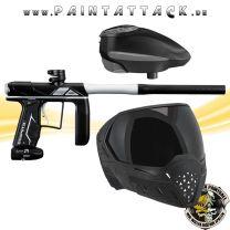 Empire AXE PRO Paintball Markierer schwarz silber mit GI LVL Loader und EVS Maske Spapaket