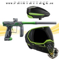 Empire AXE PRO Paintball Markierer green dust mit GI LVL Loader und EVS Maske Spapaket