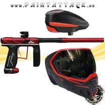 Empire AXE PRO Paintball Markierer red dust mit GI LVL Loader und EVS Maske Spapaket