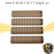 Tippmann 20 mm Waever Rail Cover Long 4er Pack Tan