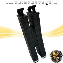 Tippmann TMC Magazin mit Magazinverbinder Mag-Fed Mags Doppelpack schwarz