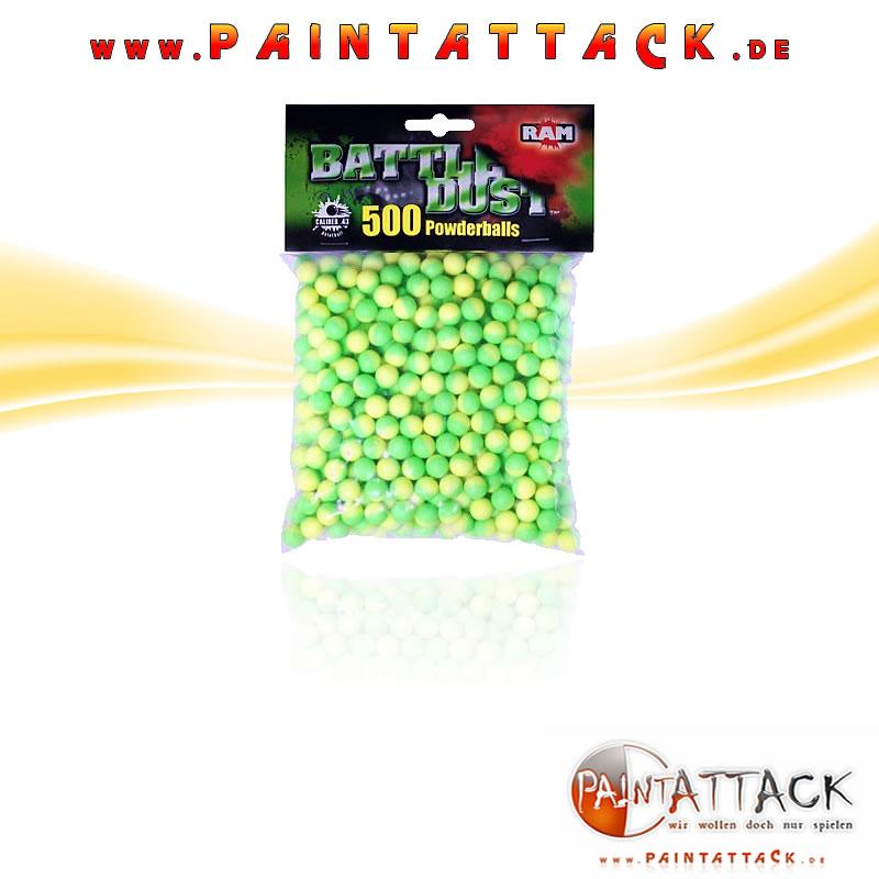 Umarex Powderballs - RAM Battle Dust Kaliber 43 - WEIß 500 Stück