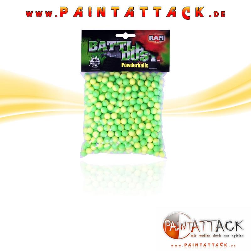 Umarex Powderballs - RAM Battle Dust Kaliber 43 - WEIß 250 Stück