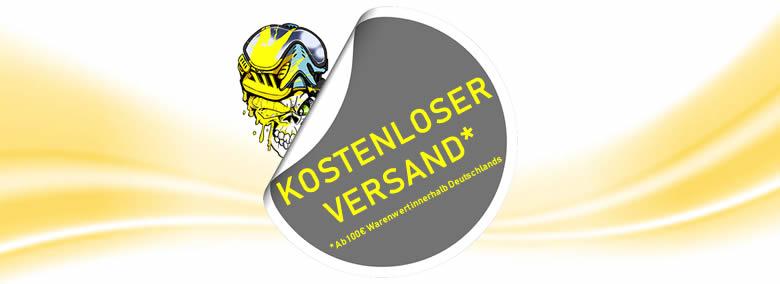 Kostenloser Versand im Paintattack Paintball Shop, ab 100€ Warenwert, innerhalb Deutschlands