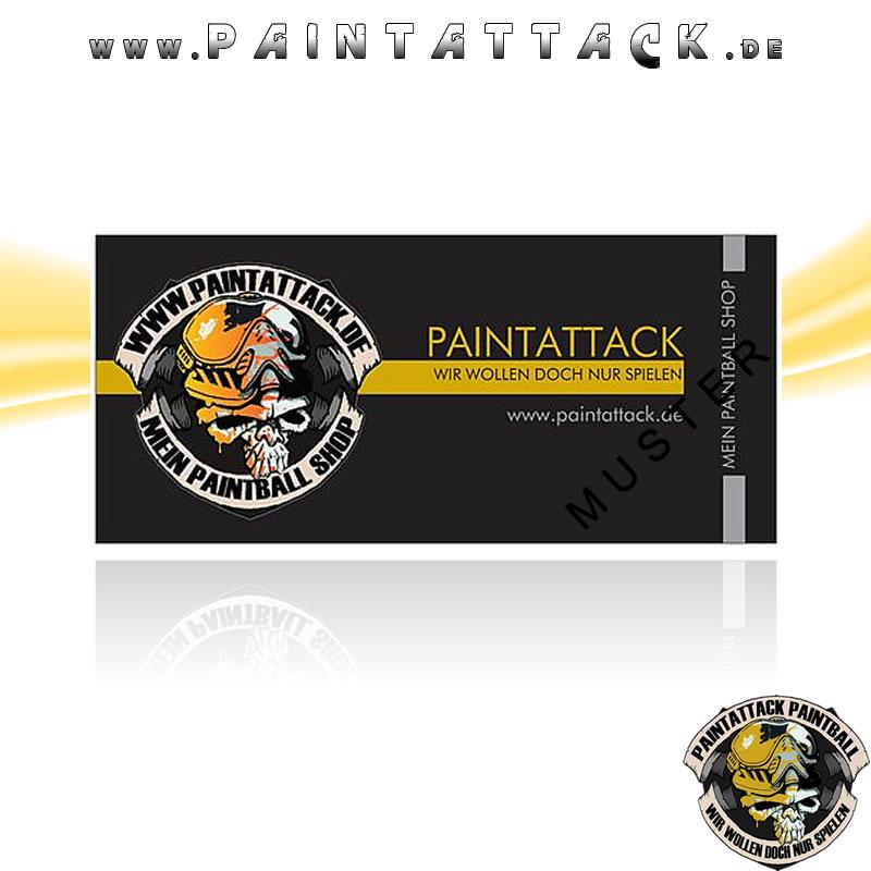 Paintattack Paintball Gutschein / Geschenkgutschein 5,00€ - Motiv 1