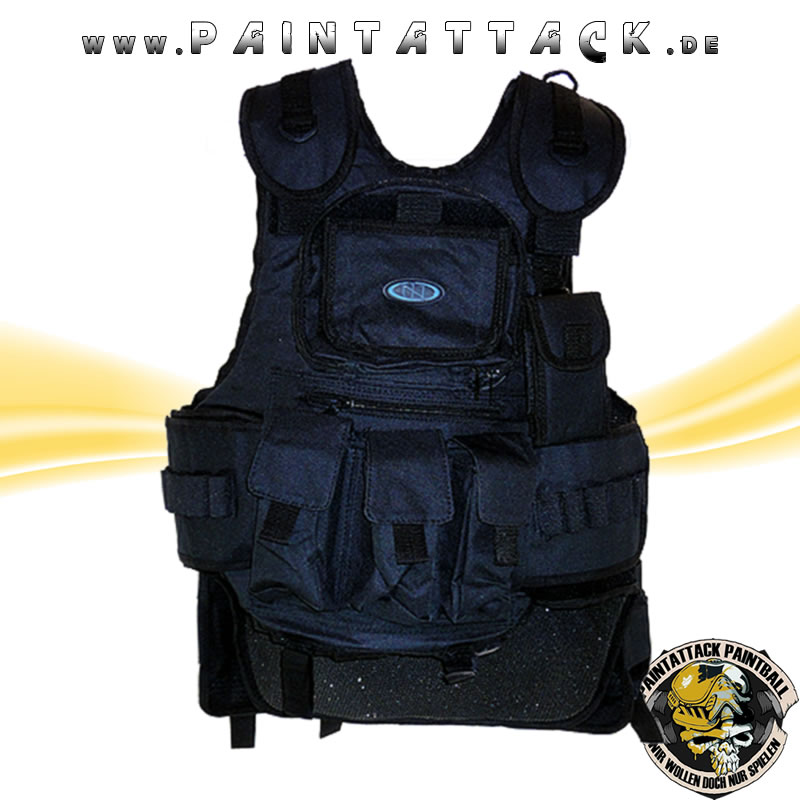 New Legion Taktische Weste / Battle Weste / Chest Protector für Softair und Paintball - SCHWARZ