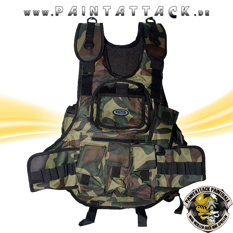 New Legion Tactical weste / Battle Weste / Chest Protector für Softair und Paintball - WOODLAND CAMO
