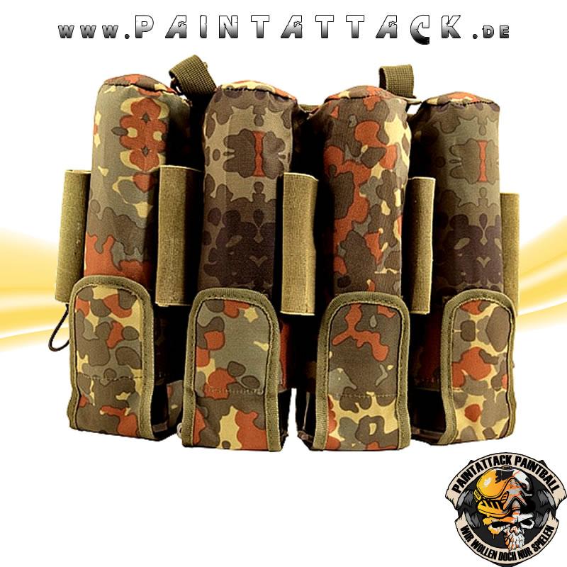 Pro Toyz / ProToyz Rebel Pack Flecktarn Molle camo unisize 9 Pot (inkl. 5 loops)